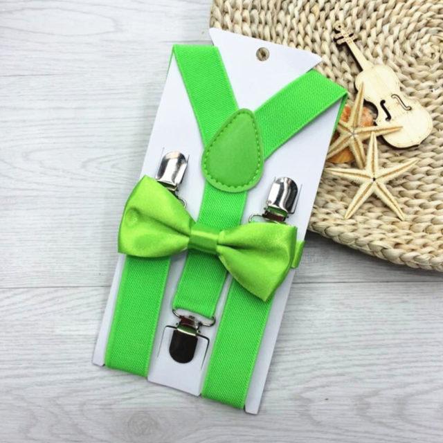 Suspenders With Bowtie Set