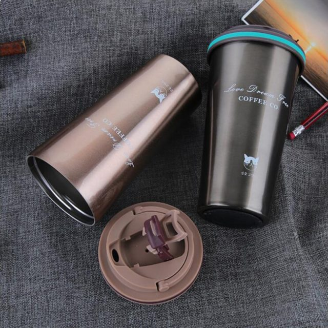 Street Coffee Thermos Mug With Lid