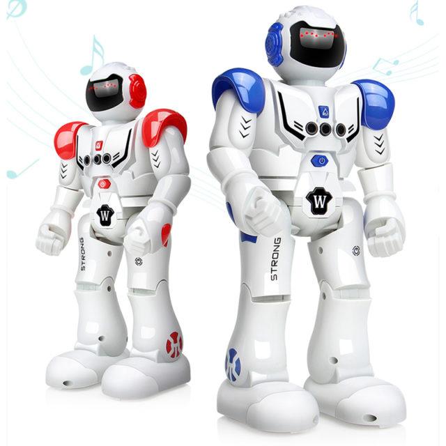 Rechargeable Programming Nursery Robot with Gesture Sensor