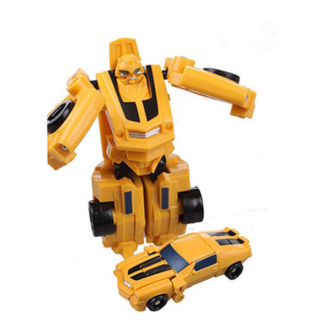 Mini Plastic Transformer Robot Cars