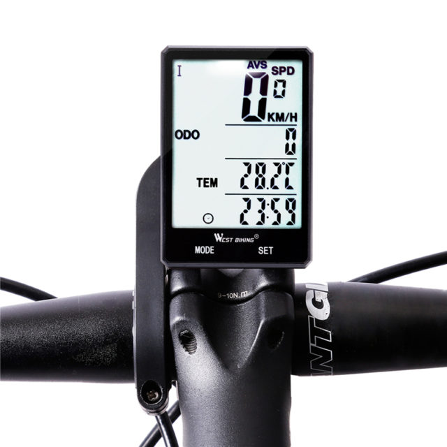 Rainproof 2.8″ Screen Wireless or Wired Bicycle Computer