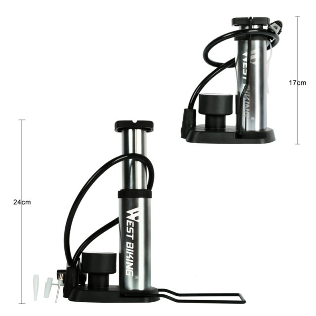 Ultra-Light Portable Bike Pump with Pressure Gauge