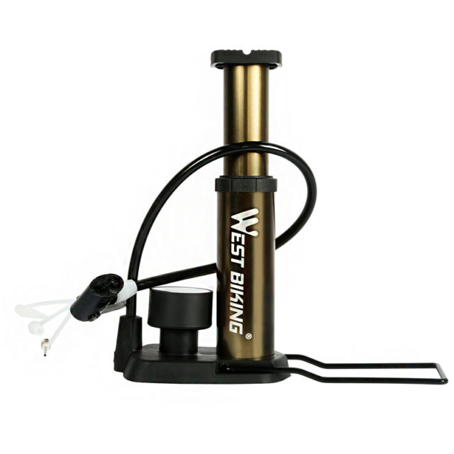 Ultra-Light Portable Bike Pump with Pressure Gauge