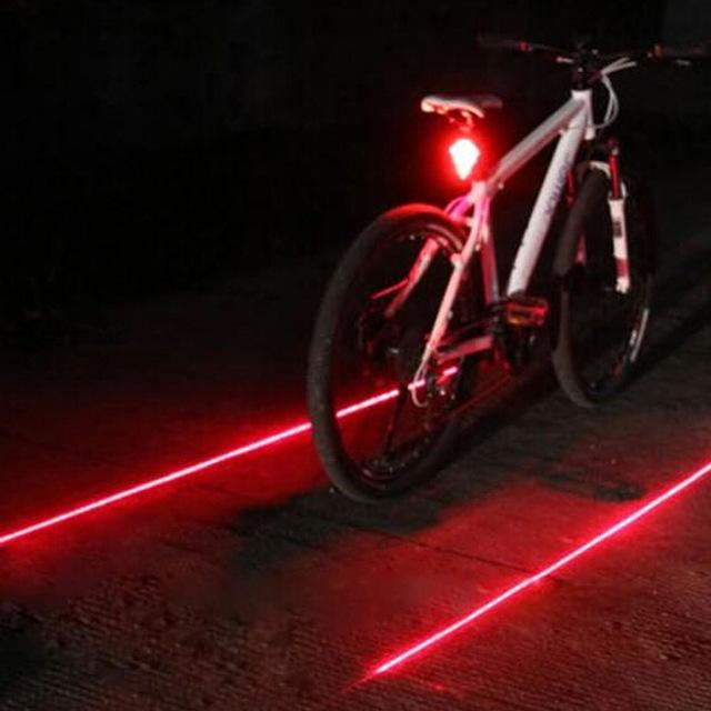 5 LED and 2 Laser Night Mountain Bike Rear Light