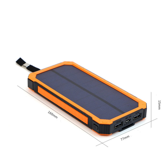 Portable 15000 mAh Solar Power Bank