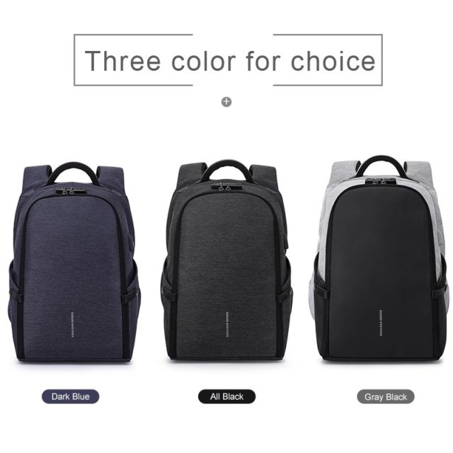 Fashion Large Capacity Men's Travel Laptop Backpack with USB