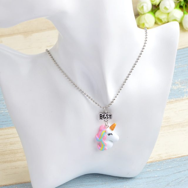 Multicolor Unicorn Shaped Necklaces Set